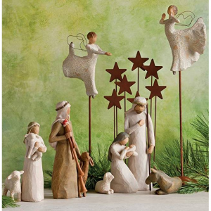 Willow Tree Metal Star Backdrop for the Nativity