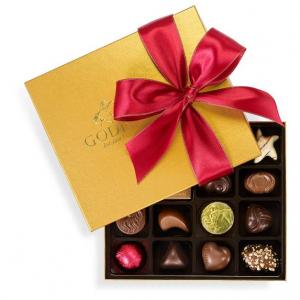 Godiva Chocolatier 19-Piece Holiday Gold Ballotin Assorted Chocolates Box