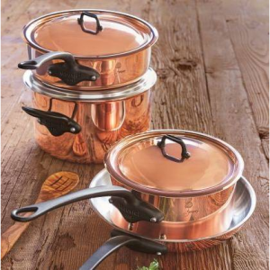 Jacques Pépin Copper 7-Piece Cookware Set