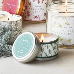 Tin Holiday Soy Candles, 2.5 oz.