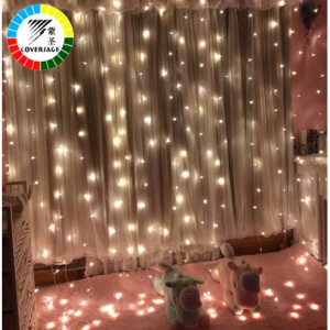 Coversage 3X1M 3x3M Christmas Garlands LED String Christmas Net Lights Fairy Xmas Party Garden Wed