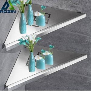 Bathroom Kitchen Storage Shelf Wall Mounted Stainless Steel Shower Caddy Rack Brushed Nickel Black