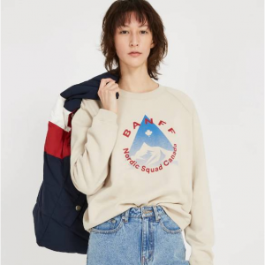 Banff Nordic Squad Heavy Fleece Crewneck - Off-White