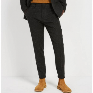 The Laurier Recycled Wool Suit Trousers in Charcoal