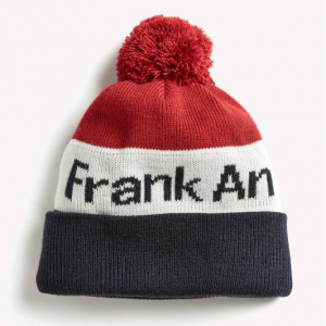 "Retro Ski ""Frank and Oak"" Pom Pom Toque - Navy/Red"