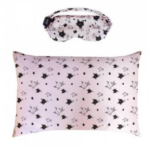 Slip X b-glowing - 粉色猫咪眼罩+枕套套装
