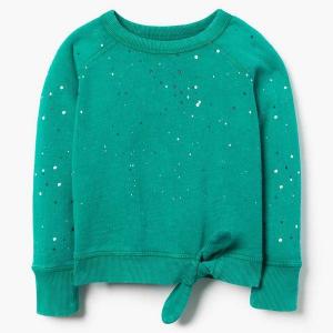 Gymboree Garment Dyed Tie Sweatshirt