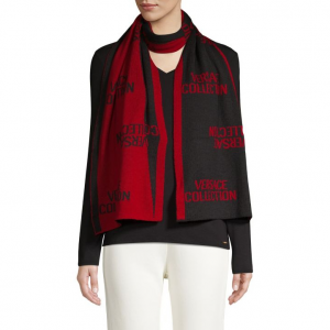 Versace Collection Two-Tone Logo Scarf