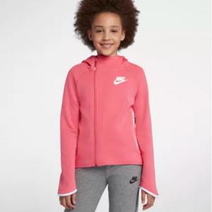 Big Kids' (Girls') Full-Zip Hoodie Nike Sportswear Tech Fleece