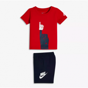 Infant/Toddler T-Shirt and Shorts Nike Futura Foam Finger Two-Piece