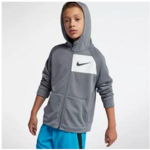 Big Kids' (Boys') Full-Zip Training Hoodie Nike Dri-FIT