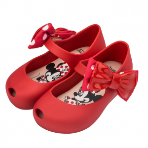Mini Melissa Ultragirl + Minnie II Bow Mary Jane Flat, Toddler