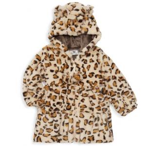 Widgeon Baby Girl's Faux Fur Leopard Swing Coat
