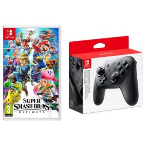 Super Smash Bros. Ultimate Nintendo Switch Import Region Free + Pro Controller @Rakuten