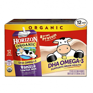 Horizon Organic, Low Fat Milk with DHA Omega-3, Vanilla, 8-Oz Aseptic Cartons (Pack of 12)