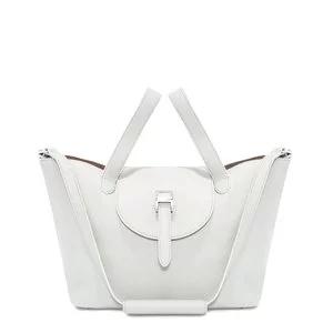 Thela Medium   Tote Bag   White and Tan