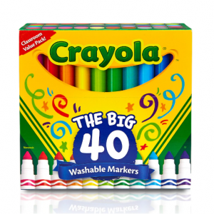 Crayola® The Big 40 Ultra-Clean Washable™ Broad Line Markers