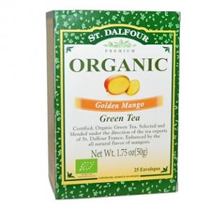 St. Dalfour, Organic, Golden Mango Green Tea, 25 Envelopes, 1.75 oz (50 g)
