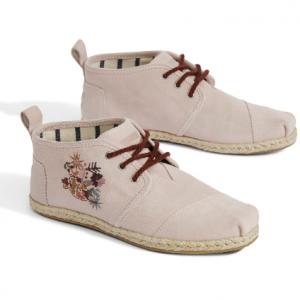 Blush Suede Floral Women's Bota Boots