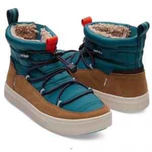 Stellar Blue Quilted Suede Men's TRVL LITE Alpine Boots