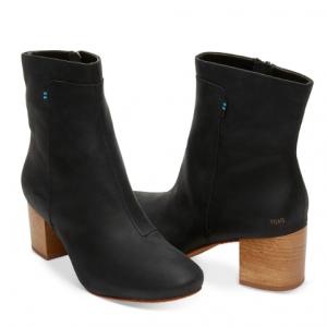 Black Leather Women's Evie Booties