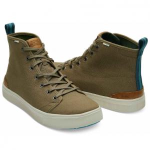 Military Olive Camo Canvas Men's TRVL LITE High Sneakers