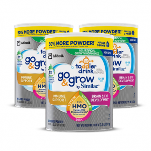 Extra 35% off Go & Grow by Similac Non-GMO Toddler Milk-Based Drink, Powder, 3 count @ Amazon