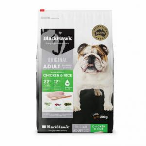 Black Hawk Dog Food Adult Chicken and Rice 20kg