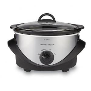 Hamilton Beach Brands Inc. 33141 4-Quart Slow Cooker - Black/Stainless Steel