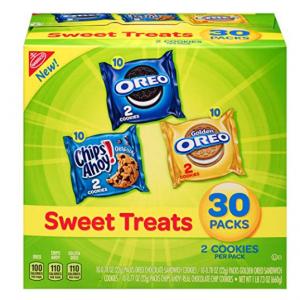 $6.63 Nabisco Cookies Sweet Treats Variety Pack Cookies 30 Snack Packs @ Amazon
