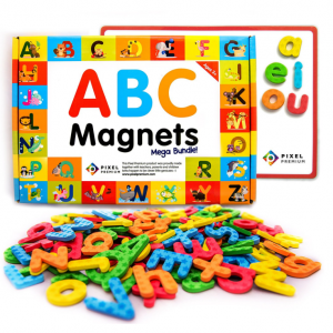 40% off Pixel Premium ABC Magnets for Kids Gift Set - 142 Magnetic Letters @ Amazon