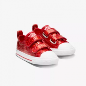 Little Kids' Shoe Converse Chuck Taylor All Star Hook And Loop Party Dress Low Top