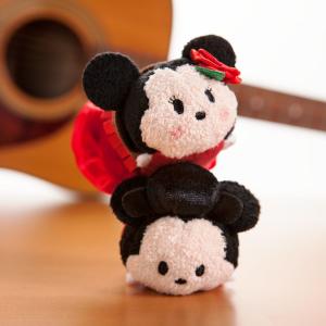 Mickey and Minnie Mouse ''Tsum Tsum'' Plush Set - Mini - 3 1/2'' - Spain