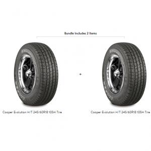 Cooper Evolution H/T 245/60R18 105H Tire