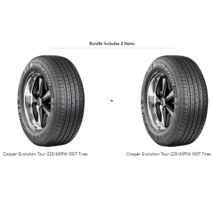 Cooper Evolution Tour 225/65R16 100T Tires