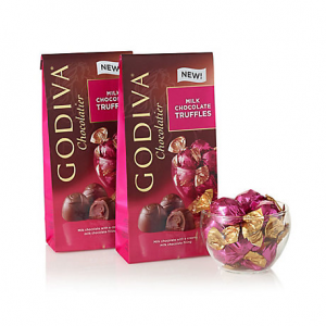 Wrapped Milk Chocolate Truffles, Large Bags, Set of 2, 19 pc. each