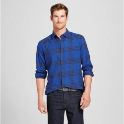 Men's Long Sleeve Lightweight Flannel Button Down Shirt