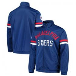 Philadelphia 76ers G-III Sports by Carl Banks Veteran Tricot Full-Zip Track Jacket - Royal
