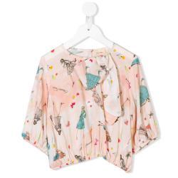 ELISABETTA FRANCHI LA MIA BAMBINA printed blouse
