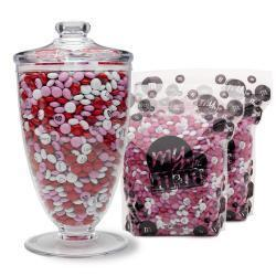Candy Table Apothecary Jar & Bulk M&M'S® (10-lb Bag) Color Only
