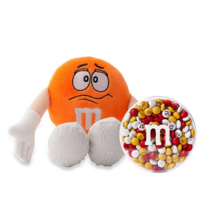 M&M'S® Orange Plush and 8oz acrylic dish