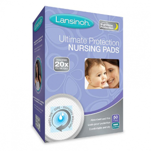 Lansinoh Ultimate Protection Nursing Pads, 50 Count, Day or Nighttime