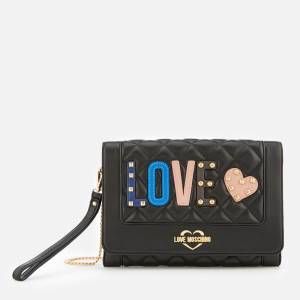 LOVE MOSCHINO WOMEN'S QUILTED LOVE CROSS BODY BAG