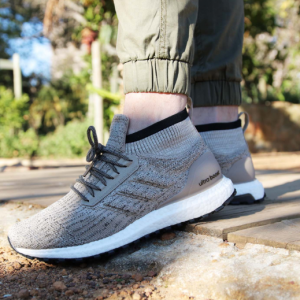 $120 off Men's adidas UltraBOOST ATR Mid Running Shoes (Silver/Carbon/Black) @ Finish Line