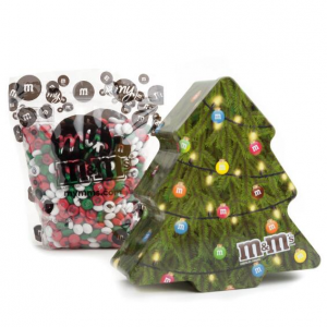 Collectible Holiday Tree Tin With Personalized M&M'S®