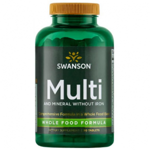 Swanson Ultra Multi and Mineral without Iron Whole Food Formula