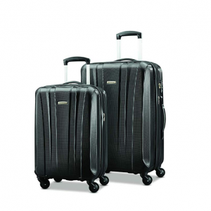 "$144.99 Samsonite Pulse Dlx Lightweight 2 Piece Hardside Set (20""/28""), Black @ Amazon"