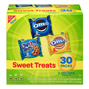 Nabisco Cookies Sweet Treats Variety Pack Cookies - with Oreo, Chips Ahoy, & Golden Oreo - 30 Snac