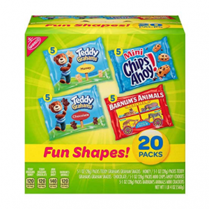 Nabisco Fun Shapes Cookie & Cracker Mix, Variety Pack with Teddy Grahams 20 count