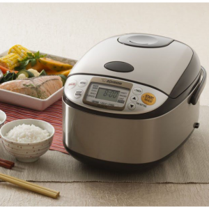 $132.30 Zojirushi NS-TSC10 5-1/2-Cup (Uncooked) Micom Rice Cooker and Warmer, 1.0-Liter @ Amazon